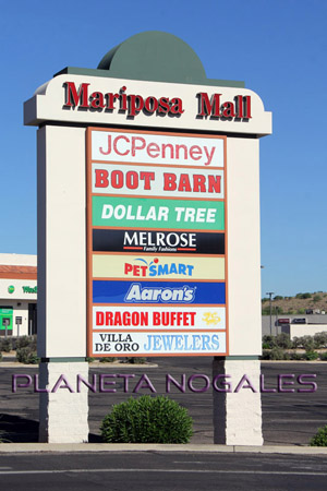 nogales mariposa mall sign