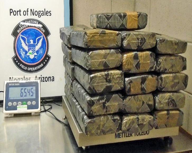 La marihuana que fue incautada el 8 de agosto de 2016 Nogales. Fuente: Aduanas de EE.UU. y Protección Fronteriza